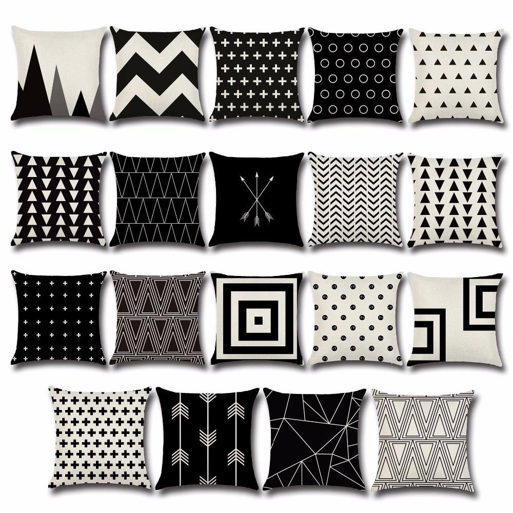 1PC Geometric Cushion Cover Black White Cushion Cover Arrow Home Decorative Chair Seat Couch Throw Pillow Case  OU 001
