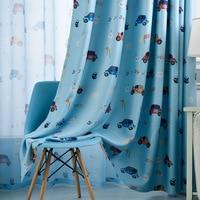 Nursery Curtains for Kids Bedroom Cartoon Car Children Boys Blackout Curtain Window Treatment Baby Room Drapes