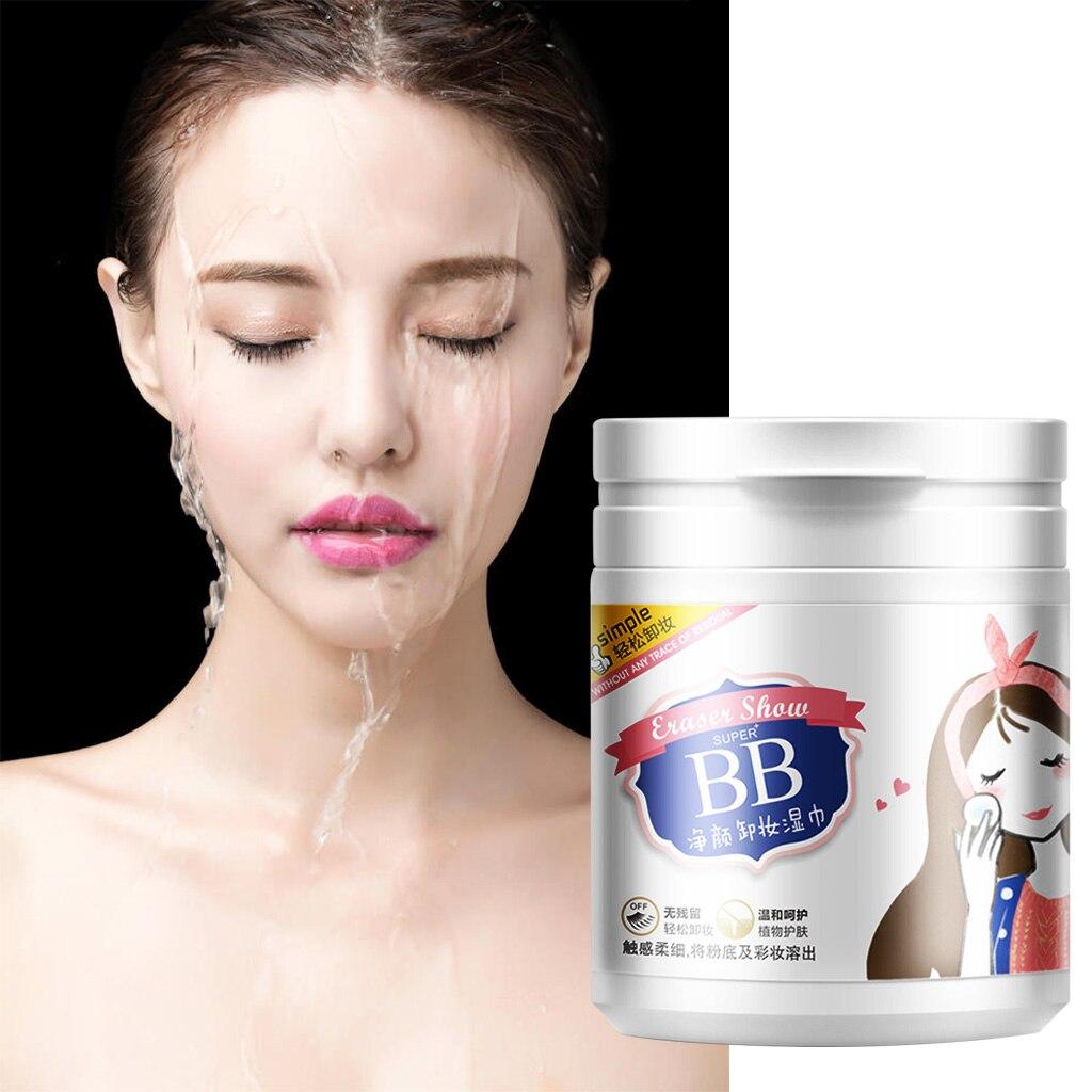 100 Vellen Make-Up Remover Katoen Doekjes Gezicht Eye Diepe Schoon Hydraterende Huidverzorging Portable Make Up Verwijderen Papier