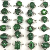 50pcs malachite rings mixed size for women cheap rings for promotion