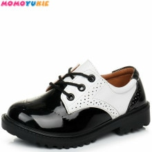 Boys Leather Shoes Black  spring Children Shoes Boys And Girls Leather Shoes For Kids Baby Rubber Pa