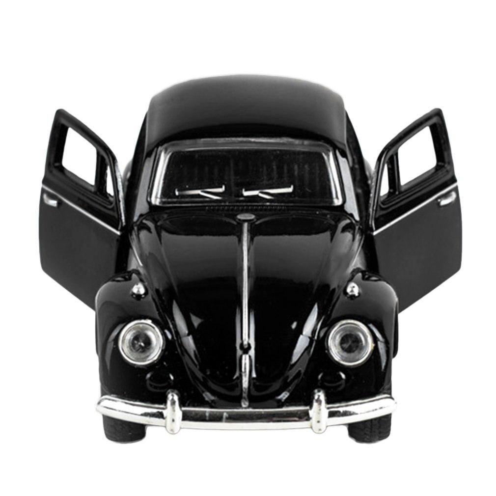 Modelo popular juguete 1/32 escala Vintage Convertible Pull Back colección modelo coches aleación Metal niños juguete coche con parpadeo y Musical