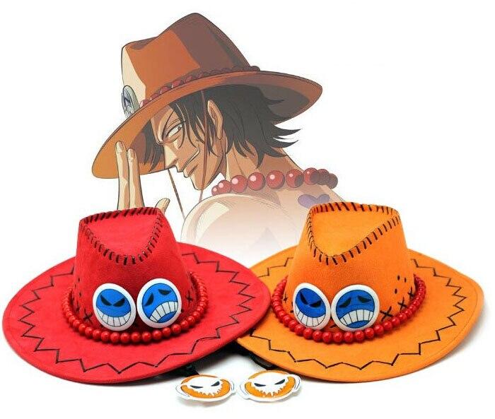 Sombrero de Anime Ace, sombrero para Cosplay de dibujos animados, sombrero de...
