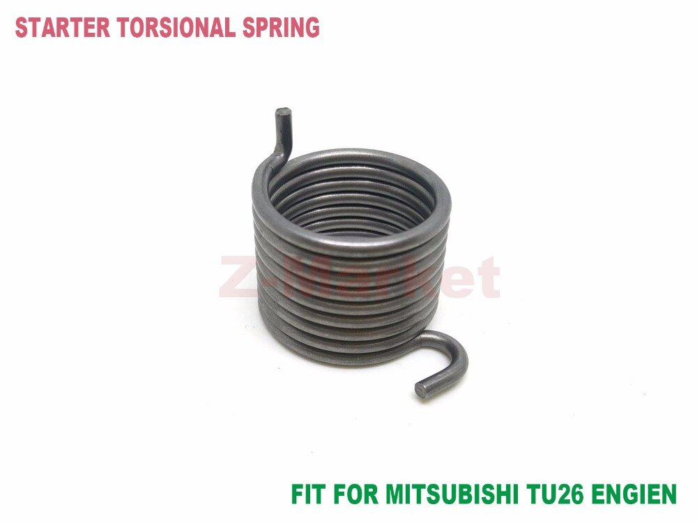 10PCS Starter Torsional Spring for MITSUBISHI  TU26 TL26 Engine NAKASHI L26M Brush Cutter.Grass Trimmer. Garden Tools Parts