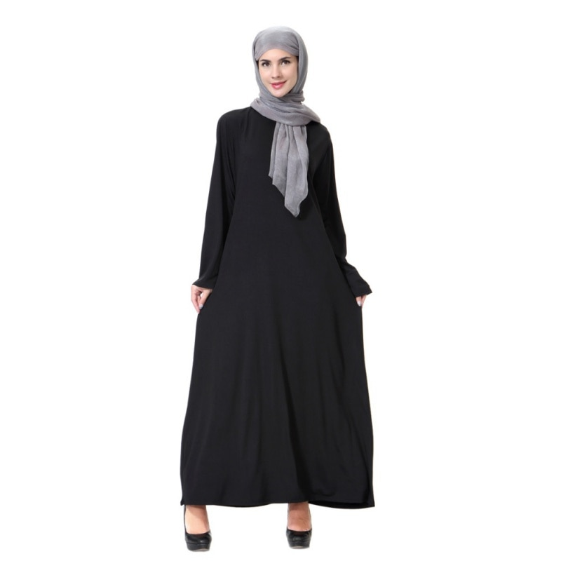 Vestido musulmán kaftan dubai de manga larga para ropa islámica para mujeres dubai musulmán burka Malasia abayas burka turco vestido largo