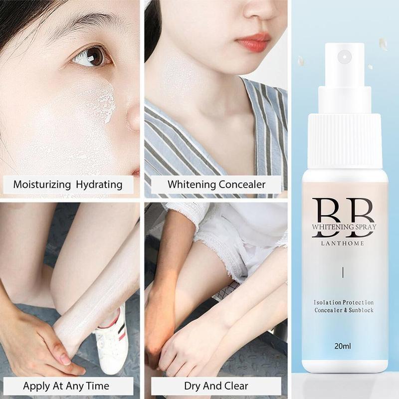 Spray BB Cream Lazy Man Spray Concealer Brighten Whitening Moisturizing Base Face Foundation Whitening Spray BB Without Makeup