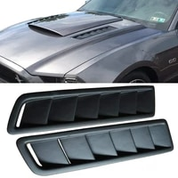 car hood vent scoop kit universal cold air flow intake fitment louvers cooling intakes auto hoods vents bonnet cover