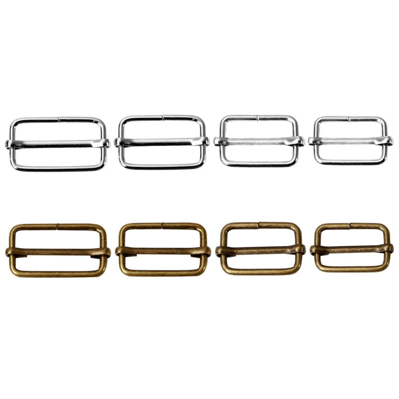 20PCS Metal Adjustable Square Ring Buckles Garment Belt DIY Needlework Luggage Sewing Handmade Bag P