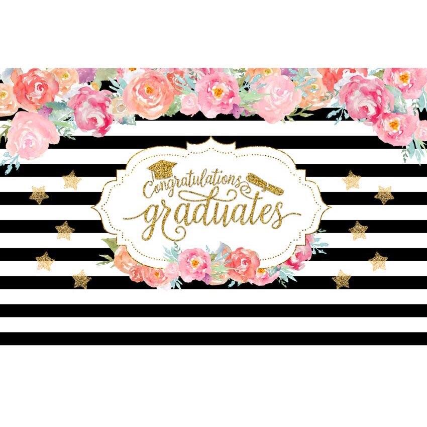 Fondo blanco y negro para fotografía fondo de flores coloridas para decoración para fiestas graduadas accesorios de cabina de estudio fotográfico
