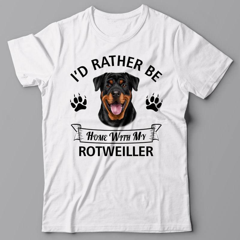 Camiseta de manga corta con dibujo para hombre, Camiseta con cuello redondo, camiseta Rotweiller, camiseta con el nombre de mi perro Rotweiller