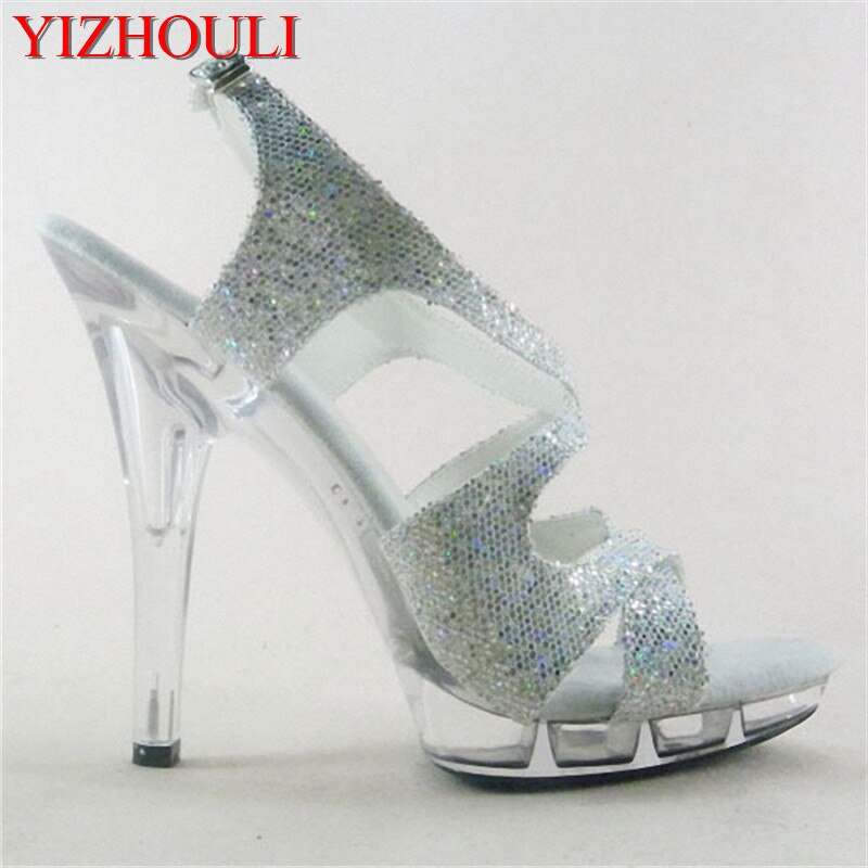 Fashion sexy Night club girl takes 13cm sexy Roman sandals Interest lap-dancing sandals