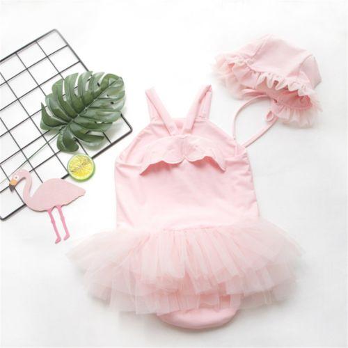 Recién Nacido niña sin mangas encaje Ángel 3D ala princesa traje mameluco traje talla 0-24M