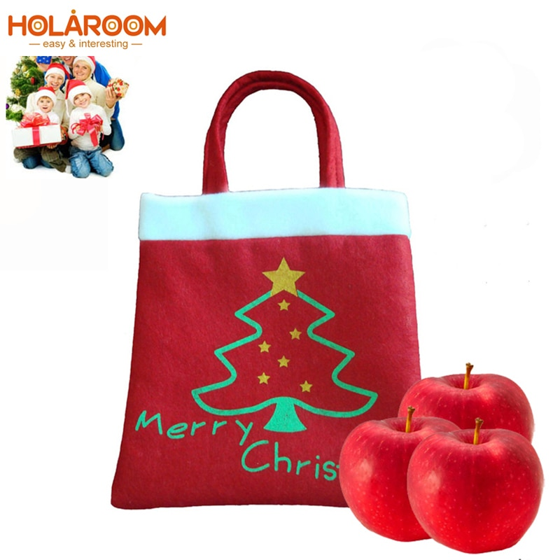 2 pcs Red Christmas Gift Candy bag Christmas tree Candy bags Santa claus Gift Bag Home Decoration Ho