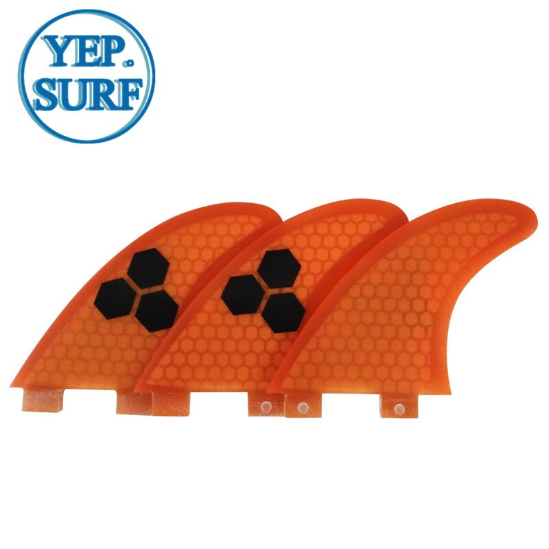 Surfboard Fibreglass Fin FCS G3 Fin Honeycomb Surf Fin G3 Quilhas Surf FCS Fin Orange 3 colors black logo