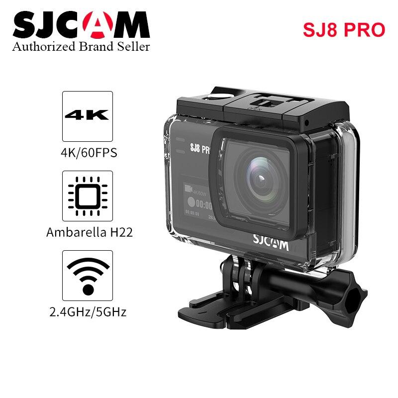 SJCAM SJ8 Pro 4K 60FPS WiFi Remote Helmet Action Camera Ambarella Chipset 4K/60FPS Ultra HD Extreme Sports DV Wifi Camera