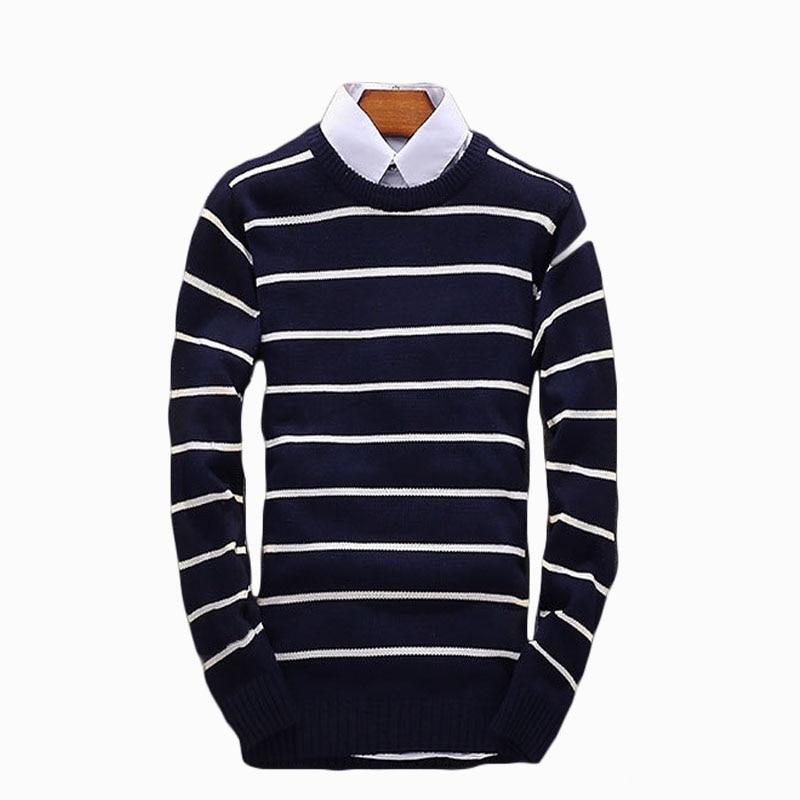 2017 new autumn winter men's sweater fashion shirt collar slim men's bottoming sweater pullover ZL846