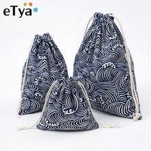 eTya Drawstring Cosmetic Bag Travel Luggage Makeup Case Women Clothes Shoe Make Up Bath Organizer Po