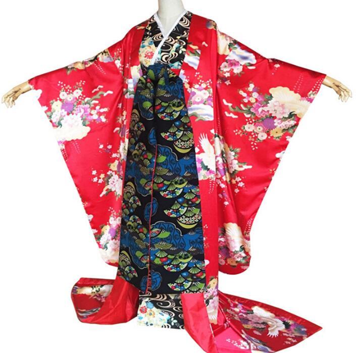 Japanese Plum Flower Kimono Outer Garment Costume Beautiful Woman Dress Japanese Performance Kimono Woman Shoot Clothing