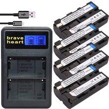 4Pcs NP-F550 NP F550 NPF550 F570 Battery +LCD USB Dual Charger For Sony CCD-TRV81 CCD-RV100 RV200 CCD-SC5 CCD-SC9 CCDTR1 TR215