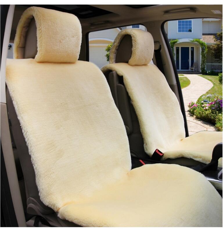 Un tamaño universal de capas de piel de oveja natural en la cubierta del asiento del coche de Australia 100%, Kit combinado de piel de oveja para La priora del coche C078