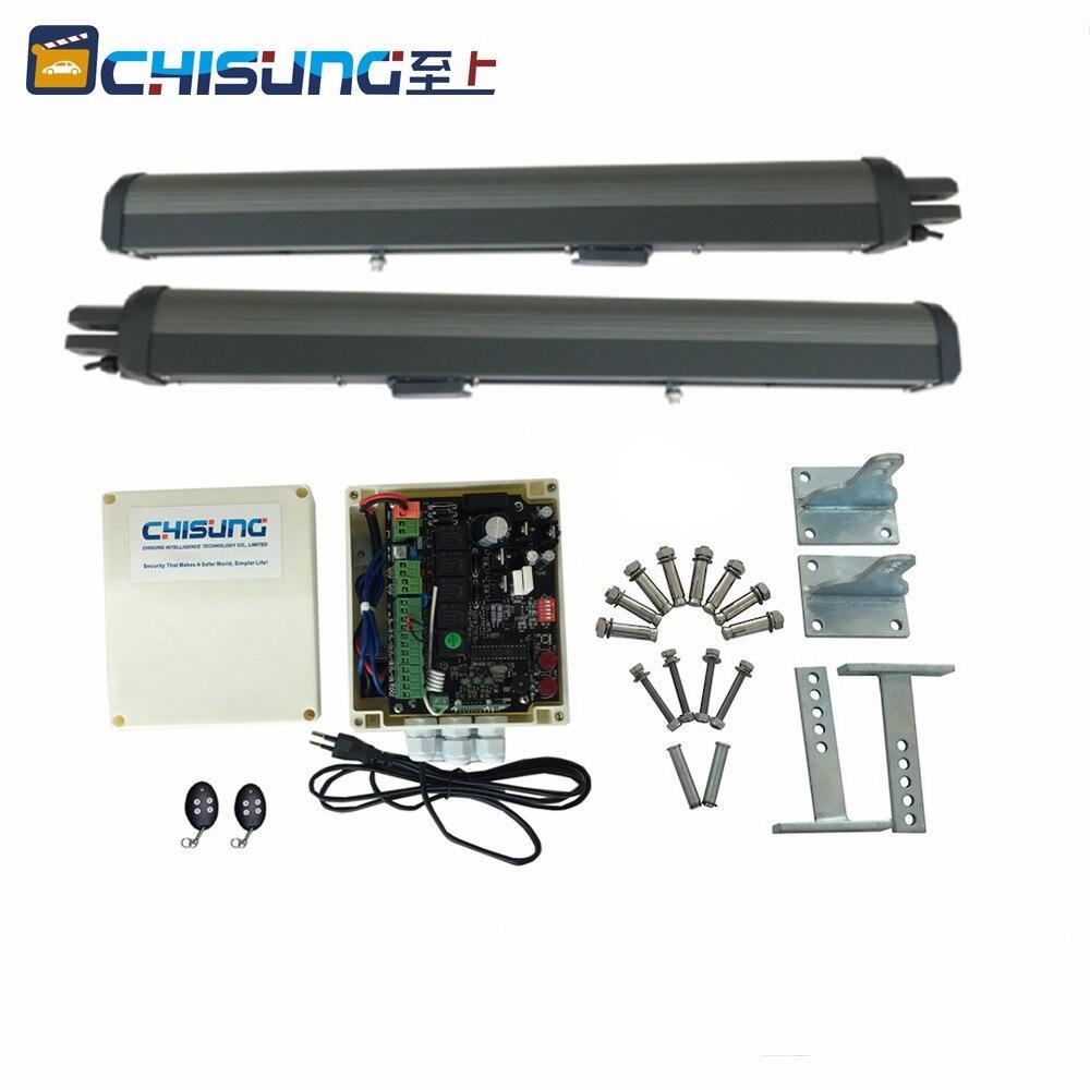 Motor de puerta de garaje dual oscilante de 24VDC, longitud de dos brazos, 2,5 m, para control remoto de puerta eléctrica