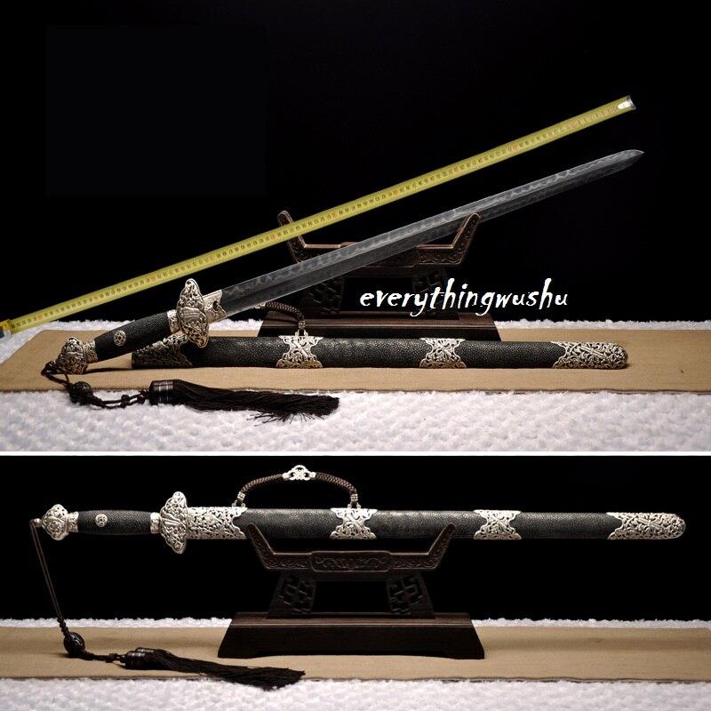Espadas de Tai Chi chinas tradicionales Jian Wushu espadas largas Quan únicas
