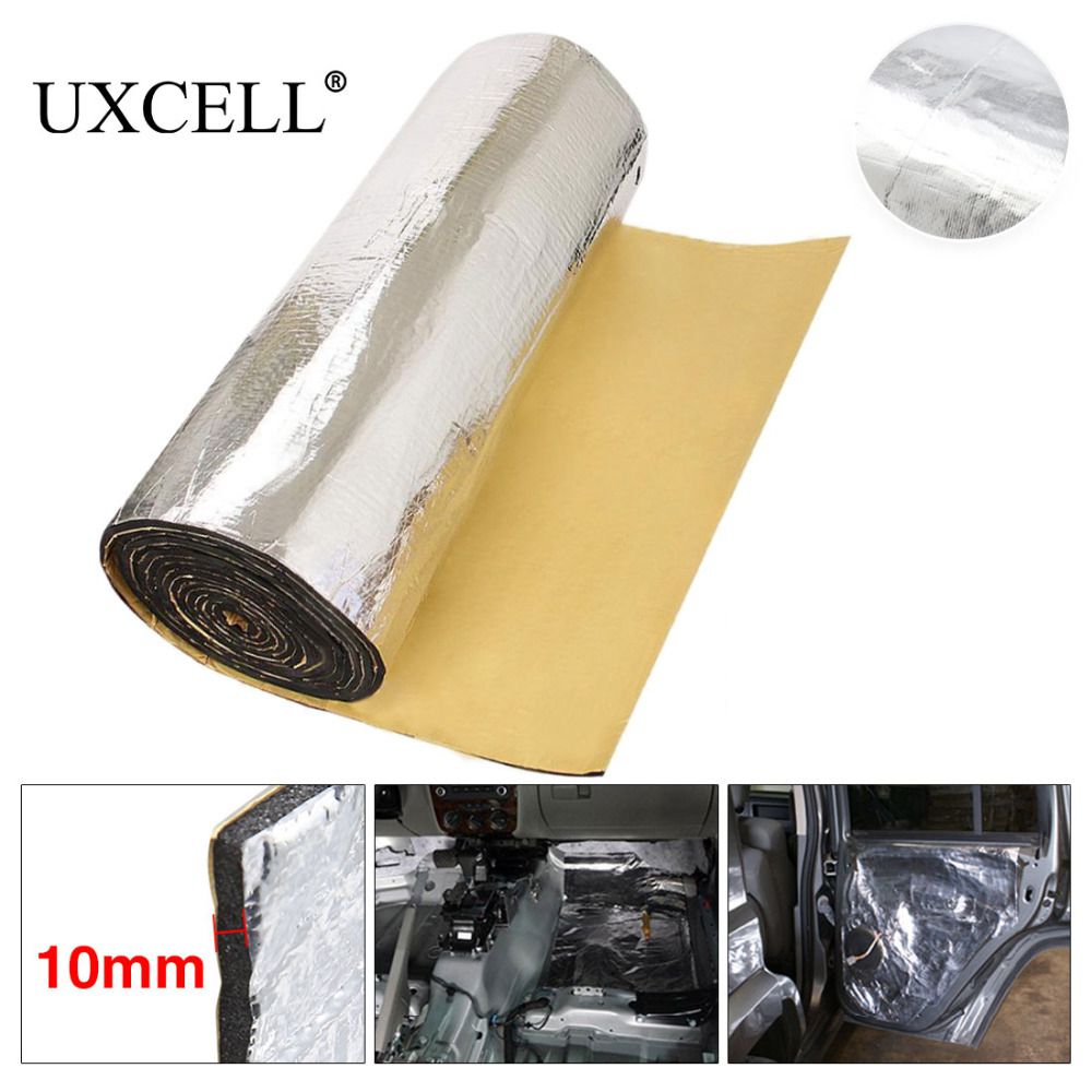 UXCELL 5mm/6mm/10mm THick Auto Car Truck Firewall Heat Sound Deadener Insulation Noise deadening sound proofing