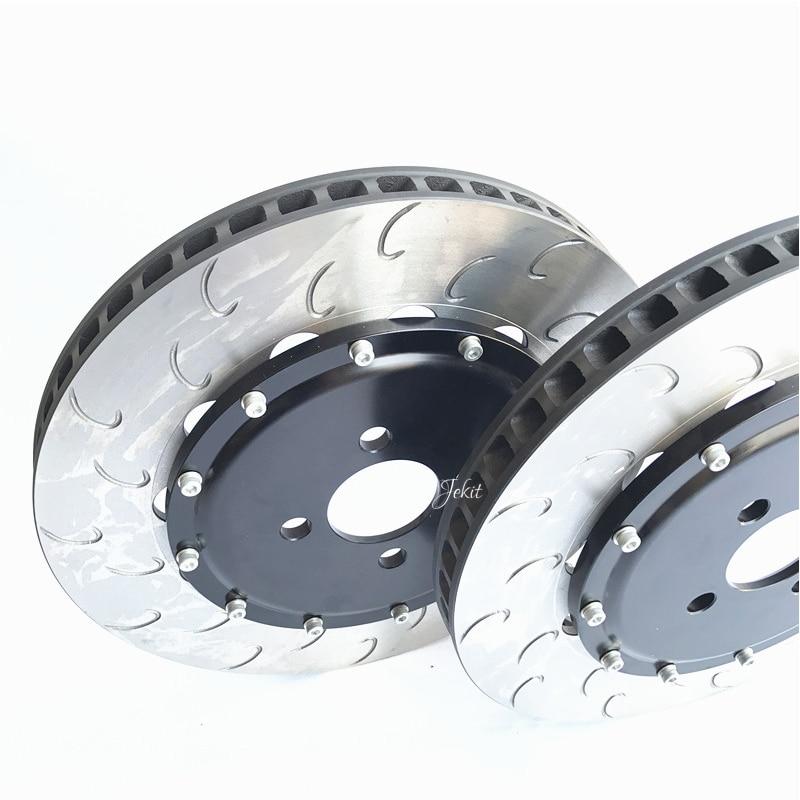 Jekit 330*28mm brake disc with center bell pcd 5*114.3 full front kit for JK9200 for Honda civic type R EP3 2003 7th generation