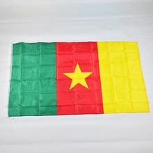 Cameroun bannière à drapeau 90*150cm   Drapeau national de 3x5 pieds pour rencontre, défilé, fête, accrochage, décoration