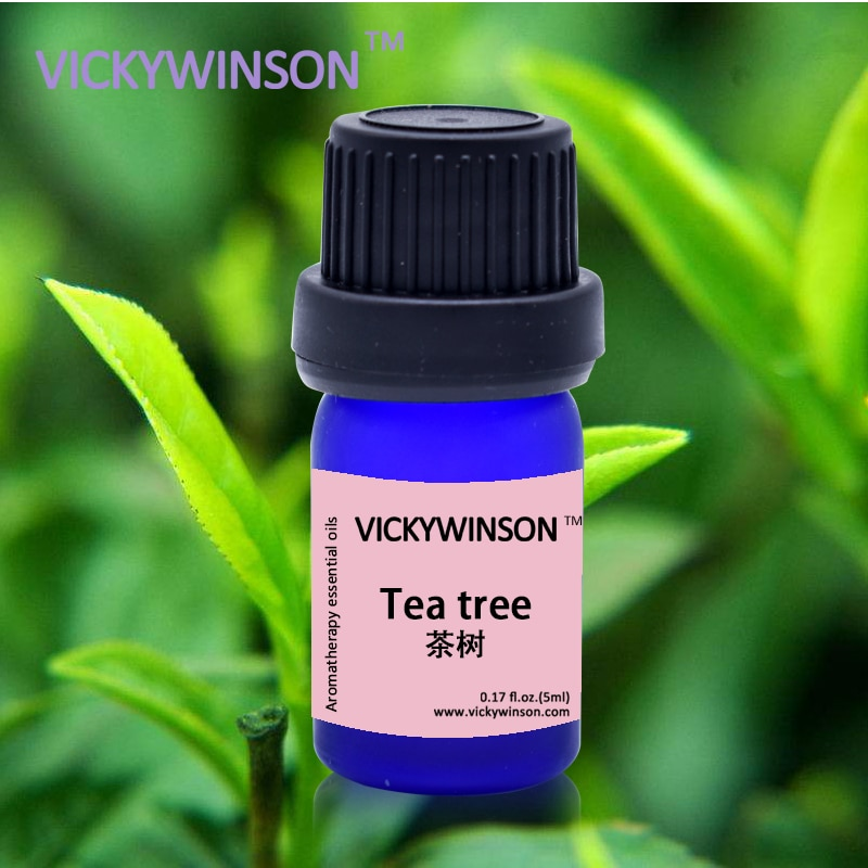 VICKYWINSON Tea Tree Essential Oil For Diffuser Humidifier Pure natural Orgnic Fragrance Aromatherapy 5ml deodorization natural camphor tree household bug repellent deodorization mothballs wood 10pcs