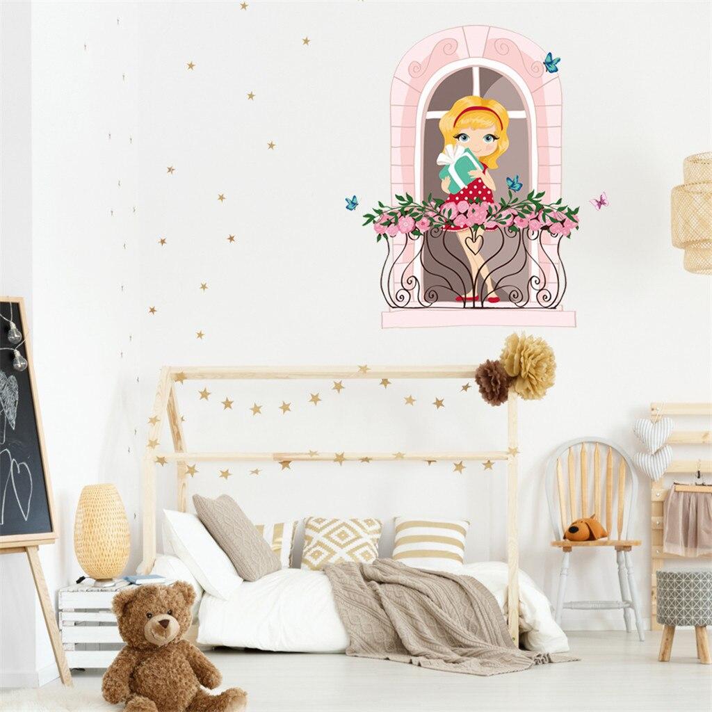 Наклейки на стену украшение дома сделай сам розовый милый фон для спальни