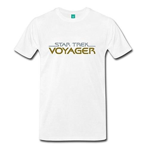 Оригинальная Мужская футболка с логотипом STAR TREKKING Voyager, Базовая футболка с принтом