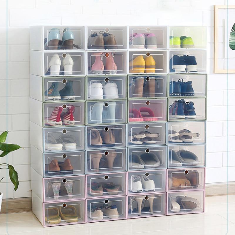 33*24*13 centímetros Multi Color Flip Tipo Gaveta Caixa de Armazenamento De Sapato de Plástico Transparente Sala de estar Caso Diversos suprimentos casa