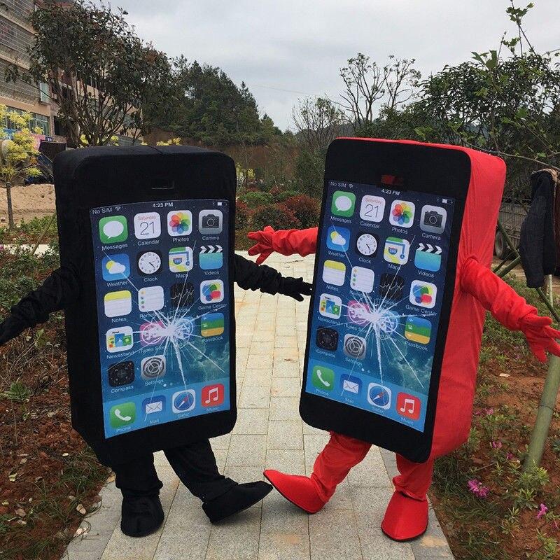 Téléphone portable/téléphone portable/Iphone mascotte costumes costumes Cosplay fête jeu robe tenues vêtements publicité carnaval Halloween