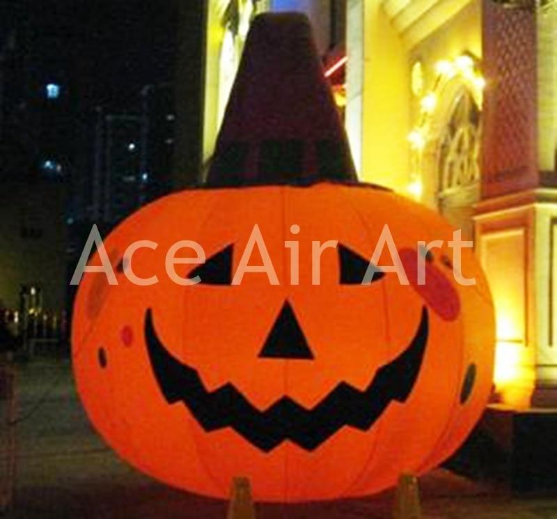 Halloween custom kid inflatable illuminated ghastly pumpkin ghost for Halloween party decoration