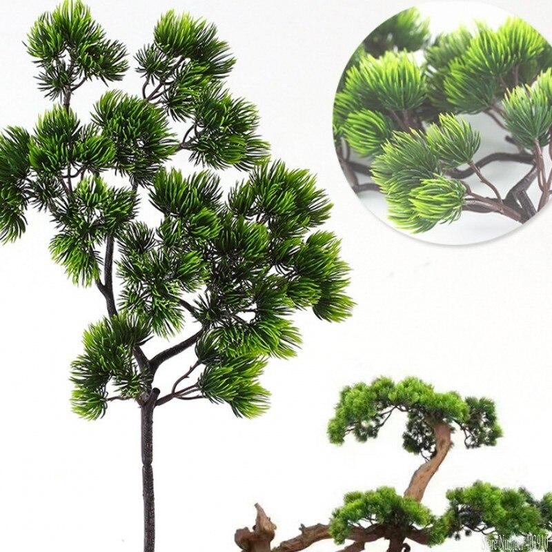 Sosna oddziałów sztuczne z tworzywa sztucznego Pinaster Cypress jesień dekoracje na boże narodzenie zieleni kompozycja kwiatowa liści liści wieniec