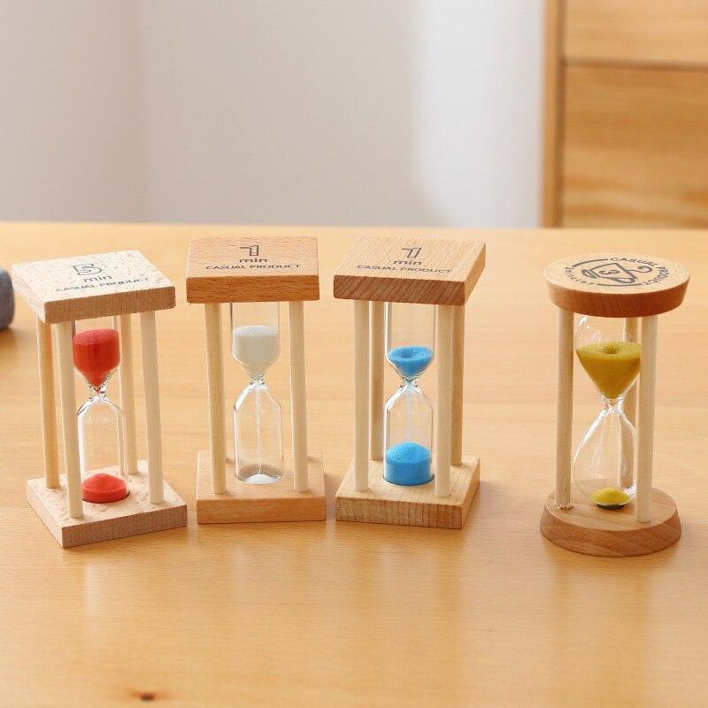 Аксессуары для украшения дома Песочные часы 3 минуты Песочные часы стекло дерево мини 5 минут таймер для душа Свадебные сувениры SL-MZYX