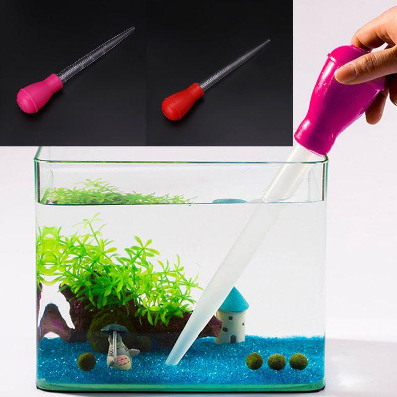 Bomba limpiadora de acuario con pipeta de 30ml y 11 pulgadas, sifón para pecera, herramienta de cambio de agua para barbacoa, tubo para limpieza de cambio