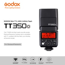 Godox Mini Speedlite TT350O TTL 2.4G sans fil haute vitesse Sync 1/8000s GN36 caméra Flash lumière pour appareil photo Olympus/Panasonic