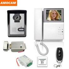 """4.3 """"lcd kit sistema de vídeo porteiro campainha do telefone da porta ir câmera campainha intercom porteiro com fechadura elétrica segurança em casa"""