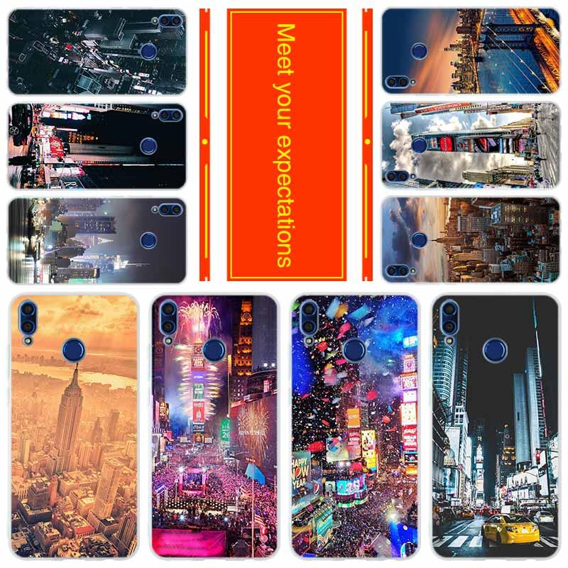 Teléfono para HUAWEI Honor 20 10i cubierta 9a 8a 7x 7a Pro 30 30s 9 10 lite 8X max X10 caso de la ciudad de Nueva York Times Square hermosa