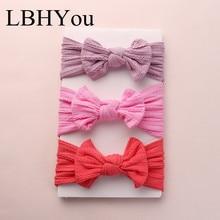 Bandeaux en Nylon tricot large 1 pièce   Bandeaux de câble en Nylon, nœuds élastiques souples, Turban, accessoires pour cheveux pour bébés filles