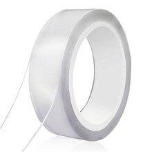 Nano Magic Tape 8mm, 10mm, 15mm,20mm   Ruban Nano-ruban Double face en polyuréthane, sans Trace, adhésif de fixation Anti-saut lavable pour le ménage