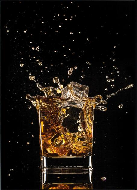 Whisky ALCOHOL licor cóctel VODKA seda cartel de pintura decorativa 24x36inch