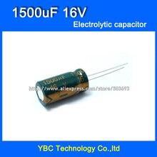 Free Shipping 100pcs/lot  16V 1500uF Electrolytic Capacitor 10*20mm