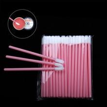 50pcs Disposable Lip Brush Gloss Wands Applicator Perfect Beauty Lipstick Cosmetic Makeup Tool Kits Mixed Colors