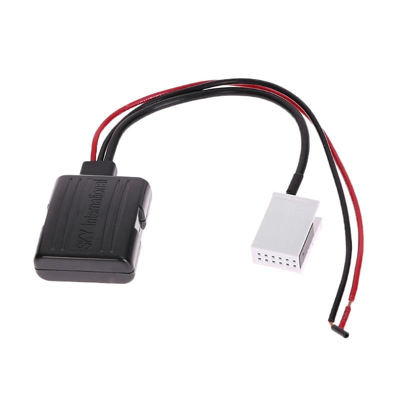 Nuevo adaptador de Audio Bluetooth receptor Aux 12 pines adaptador altavoz A2DP para BMW