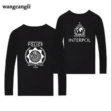 INTERPOL Punk Band T-shirt à manches longues été Harajuku T-shirt décontracté t-shirts coton T-shirt hauts grande taille 2019