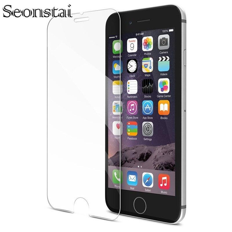 Vidrio Templado Premium HD para iPhone 7 6 6S Plus 5 5S 6splus 7plus Protector de pantalla a prueba de explosiones película de vidrio