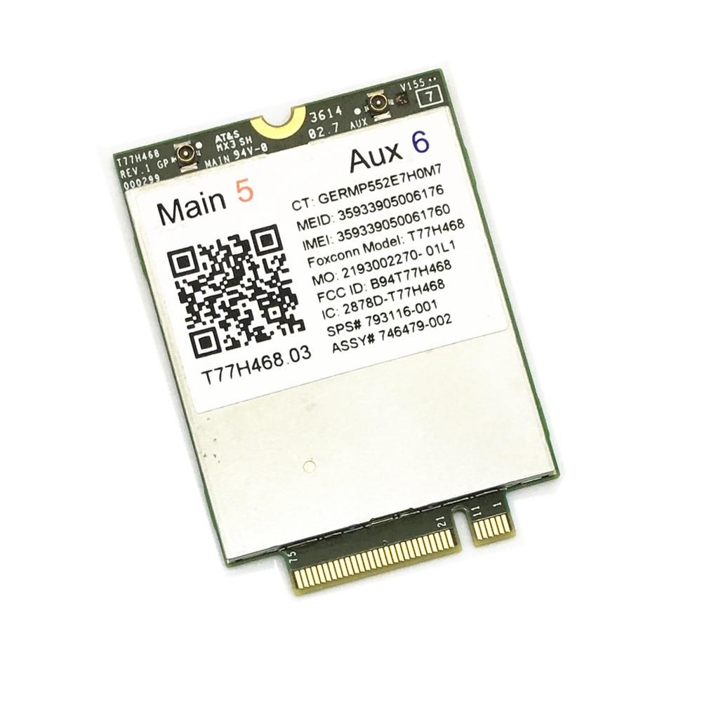 4G Módulo para HP LT4211 LTE/EV-DO/HSPA + Cartão WWAN T77H468 Gobi5000 M.2 EliteBook 820 840 850 G2 810 G3 Zbook14 15U G2